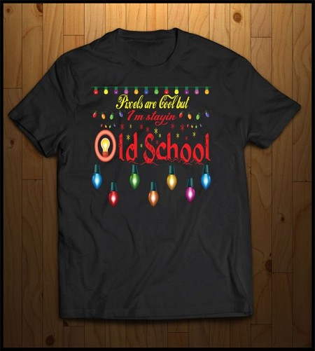 Old School Christmas T-Shirt