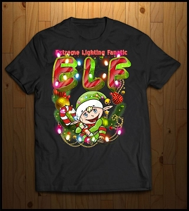 ELF Christmas Shirt (Extreme Lighting Fanatic)