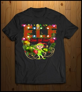 ELF Christmas T-Shirt (Extreme Lighting Fanatic)